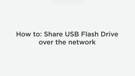 How To Share USB Drive Over Ethernet