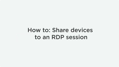 Share USB Over RDP